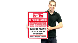 No Parking Anytime – Towing Company Signs