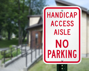 No parking in handicaped access aisle