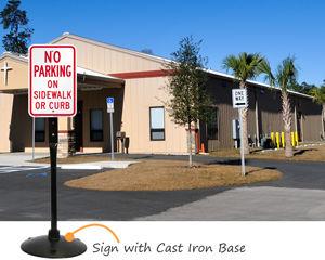 No parking on sidewalk signs
