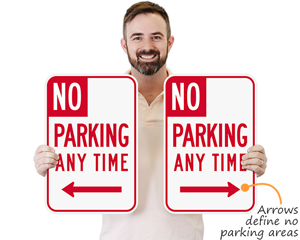 No Parking Signs With Arrows