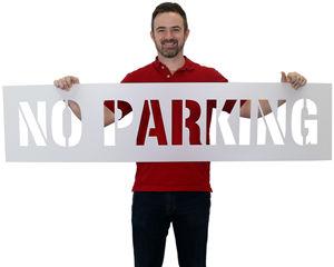 No Parking Stencils Signs
