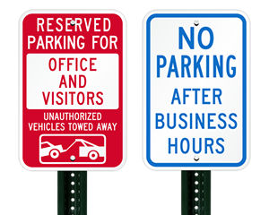 Office Parking Signs