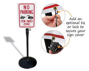 Optional tie downs for sign covers