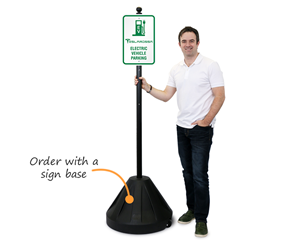 Order a portable base for your custom sign