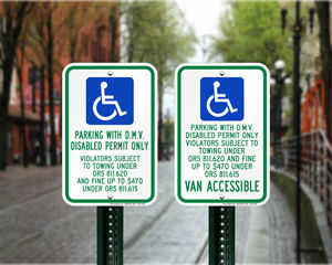 Oregon Parking Signs, Fire Lane Signs and Other Regulated Signs