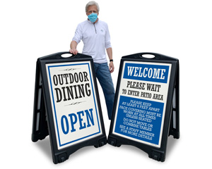 Outdoor Dining Signs