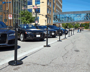 Parking control stanchions from Mr Chain