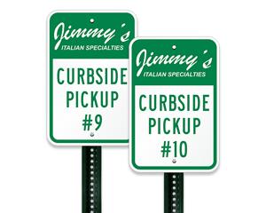 Custom parking signage