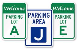 Parking Lot Signs A-J