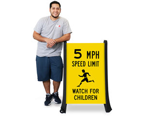 Portable speed limit sign