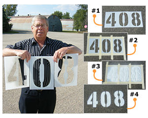 Parking Lot Number & Letter Stencils