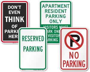 Parking Signs By Message