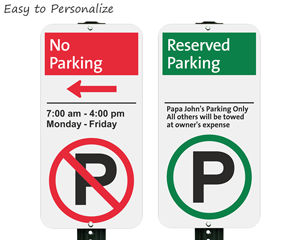 Easy to pesonalized iparking signs