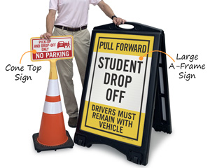 Portable Drop Off Sign
