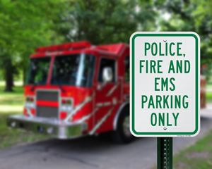 Fire Department Reserved Parking Sign