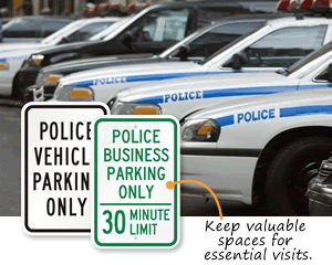 Police Parking Signs