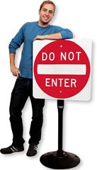 Portable Do Not Enter Signs