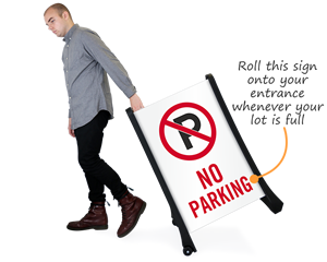 Portable no parking sign