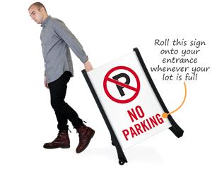 Portable no parking sign
