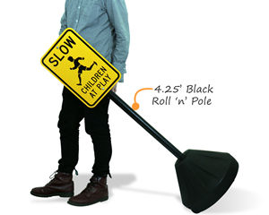 Portable Roll 'n Pole Sign Base