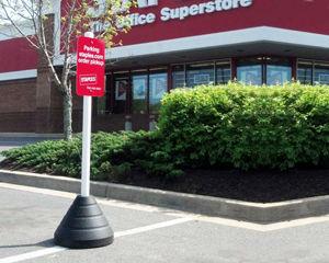 Portable rubber sign base