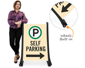 Portable self- park signs