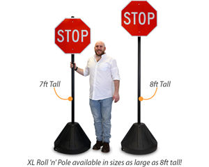 Portable Plastic Sign Base