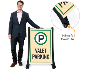 Portable vale parking sign