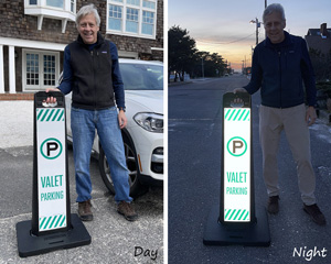 Portable valet parking signs