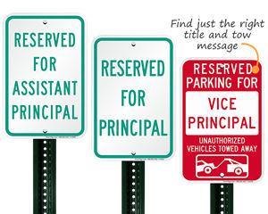 Principal parking signs