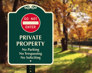 Private Driveway, Add Your Own Custom Instructions Sign