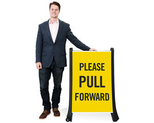 Pull forward sign
