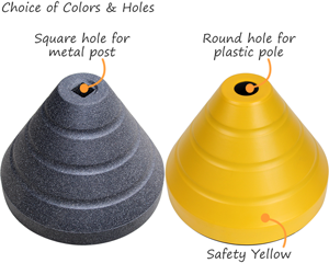Recycled rubber base in two colors