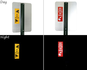 Reflective Parking Lot Sign Decals