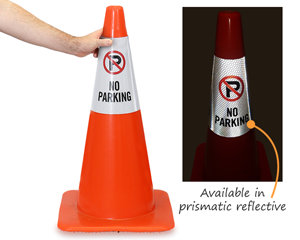 Cone Collar Parking Signs