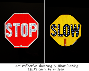 LED stop slow paddle sign