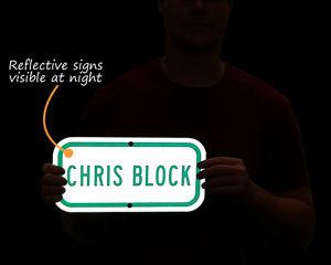 Reflective parking spot sign