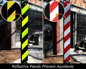 Reflective post panel