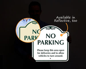 Reflective Signature sign for no parking