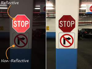 Reflective stop signs