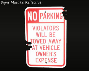 Reflective tow away sign
