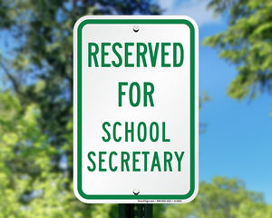 Reserved for principal parking sign