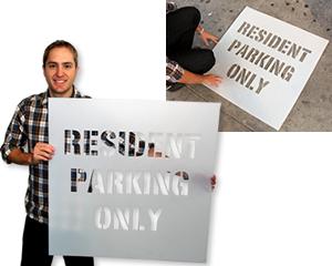 Reserved Parking Stencils
