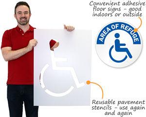 Handicap Stencil and Wheelchair Signs