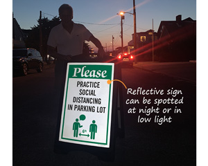 Social Distancing Signs for Parking Lots