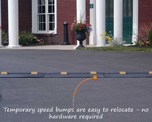 Reflective Speed Bumps