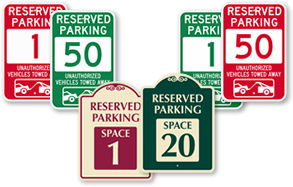 All Reserved Parking Spot Signs