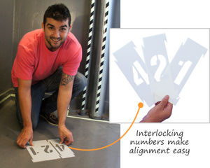 Interlocking Stencil Number & Letter Kits