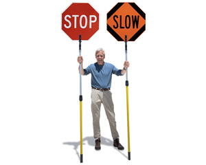 Stop slow paddles with telescoping poles