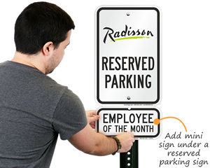 Supplemental sign for employee of the month